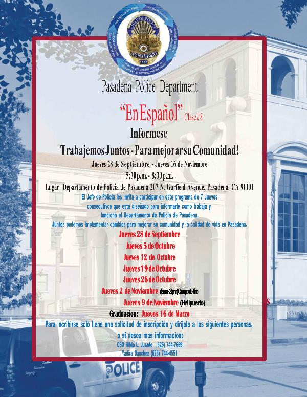Community Police Academy En Espanol