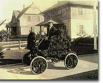 Pasadena History - Person Riding in an Open Car