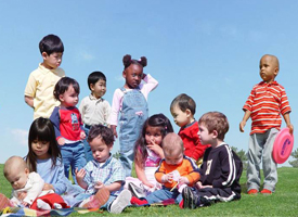 Group of Children on Grass 200x275 image