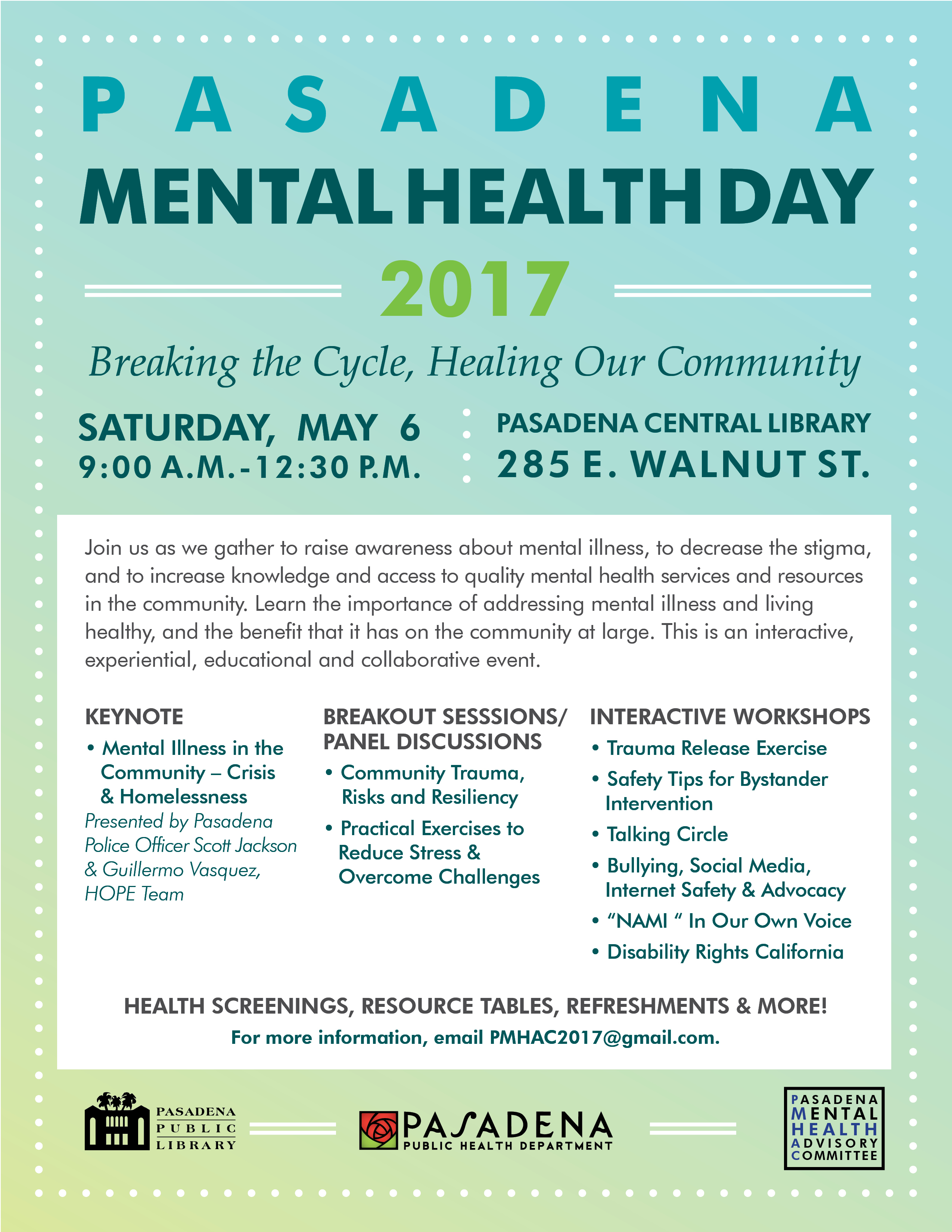 Mental Health Day 2017 Public Health Department