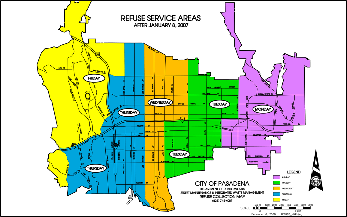 Refuse Days of Service and Map