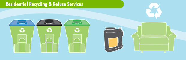 Residential Recycling and Refuse Services banner