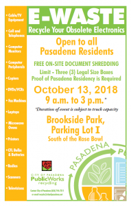 E-Waste and Paper Shredding Event - Department of Public Works