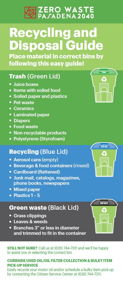 Trash And Recycling Department Of Public Works