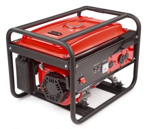 Electric Generator. red. white background