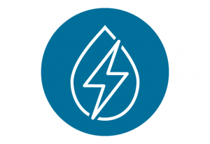 Blue hydropower icon