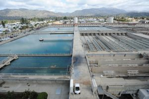 Birdseye view of Waymouth Water Treatment Plant