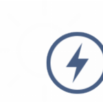 An icon of a sun and lightning bolt