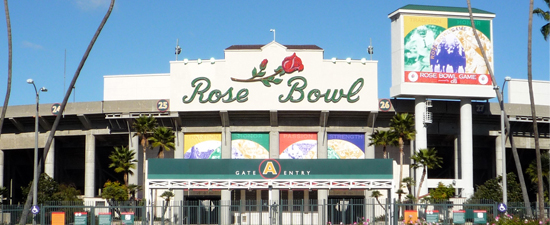 Rose Bowl Stadium image link to visitors information page